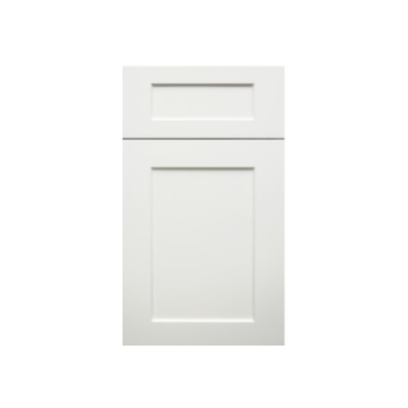 colored bright white shaker cabinet door
