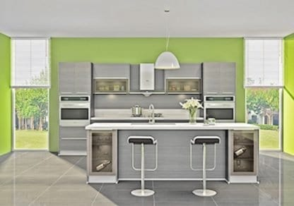 European delight ebony UV kitchen
