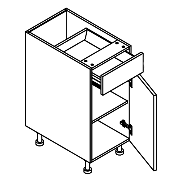 Frameless base cabinet B12-B24