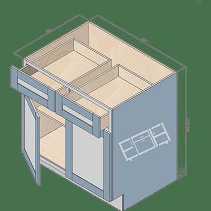 base cabinet b33-2