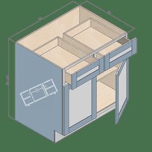 base cabinet b33