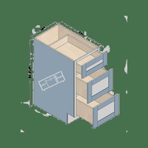base cabinet db15