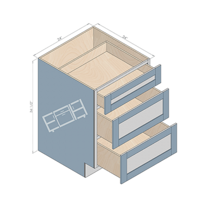 base cabinet db24
