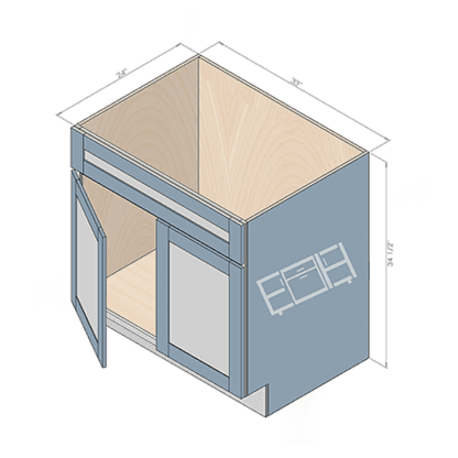 sink cabinet sb33-2