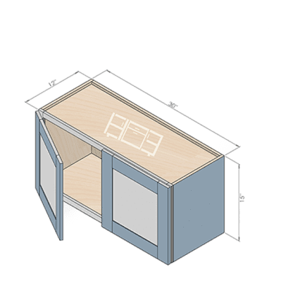 wall cabinet w301512-2